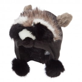 Kid's Faux Fur Knit Animal Hat