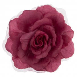 Open Rose Sheer Hair Clip