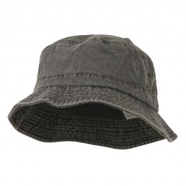 Big Size Washed Hat - Black