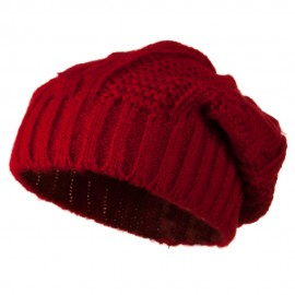 Big Skullie Cable Beanie - Red
