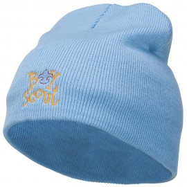 Boy Scout Logo Embroidered Short Beanie
