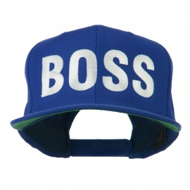 Flat Bill Hip Hop Casual Boss Embroidered Cap