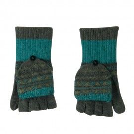 Women's Flip Top Fingerless Button Accent Glove