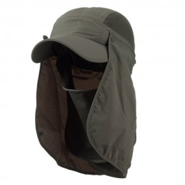 UV 50+ Talson Removable Flap Breathable Cap - Olive