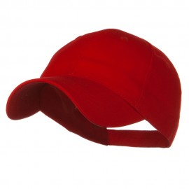 Youth Brushed Cotton Twill Low Profile Cap - Red