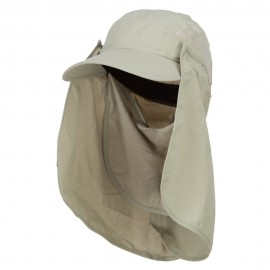 UV 50+ Talson Removable Flap Breathable Cap - Khaki