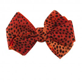 Women's Animal Print Bow Tie Pin Clip