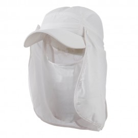 UV 50+ Talson Removable Flap Breathable Cap - White