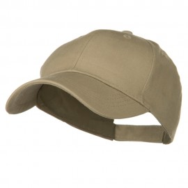 Youth Brushed Cotton Twill Low Profile Cap - Khaki