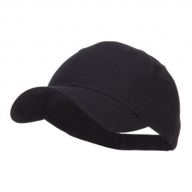 Youth Brushed Cotton Twill Low Profile Cap - Black