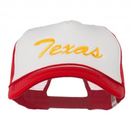 Big Size Mid State Texas Embroidered Foam Mesh Cap