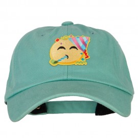Party Emoji Patched Unstructured Washed Cap