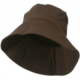 UPF 50+ Women's Cotton Blend Bucket Hat - Brown