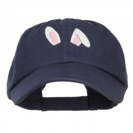 Bunny Ears Embroidered Low Cap
