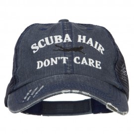 Scuba Hair Don't Care Embroidered Cotton Mesh Cap
