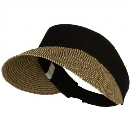 UPF 50+ Canvas Crown Paper Braid Visor