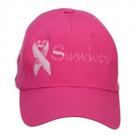 Breast Cancer Survivor Embroidered Cotton Cap