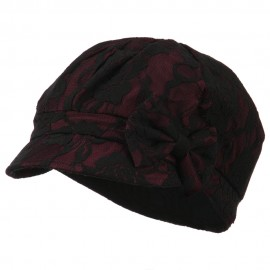 Women's Bow Lace Cabbie Cap