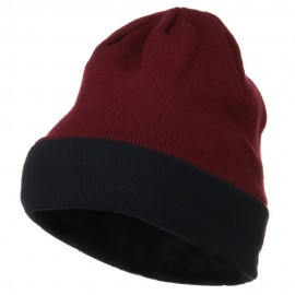 Fleece Brim Winter Knitted Beanie