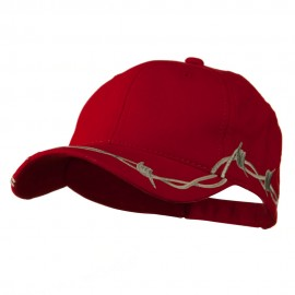 6 Panel Barbed Wire Frayed Design Cap