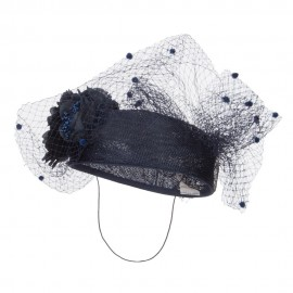 Net Pom Pom Pillbox Fascinator