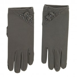 Women's Bead Bow Texting Glove