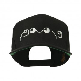 Japanese Boxing Face Emoticon Embroidered Snapback Cap