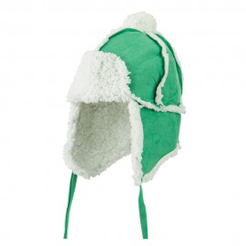 Boys' Pom Pom Polyester Trooper Hat