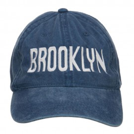 Brooklyn Embroidered Washed Cap