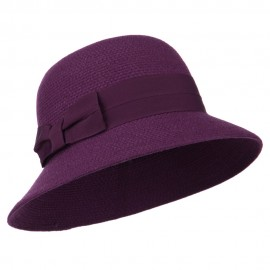 Women's Wool Felt Bucket Shape Hat - Purple