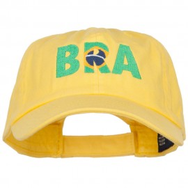 Brazil Embroidered Low Profile Cap