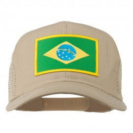 Brazil Flag Patched Mesh Cap