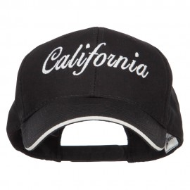 California Embroidered Oversized Twill Cap