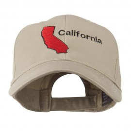 California Image with Wording Embroidered Cap