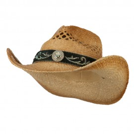 Cowboy Hat with Cowhide Band