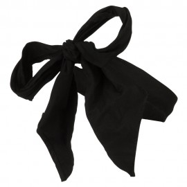 Cotton Bow Hat Band - Black