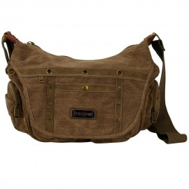 Canvas Bag with Side Pockets