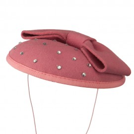 Wool Felt Cocktail Hat with Bow