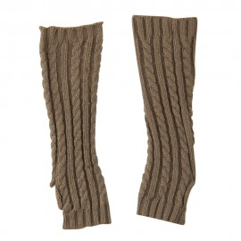 Women's Cable Knitted Arm Warmer - Grey
