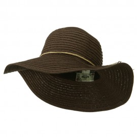 Coconut Band Floppy Hat - Brown