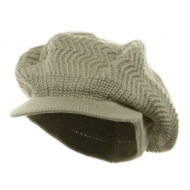 Crown Plain Beanie Visor-Sage Green