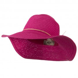 Coconut Band Floppy Hat - Fuchsia