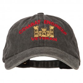 Combat Engineer Veteran Embroidered Washed Cotton Twill Cap