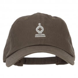 Chess Bishop Embroidered Unstructured Washed Cap