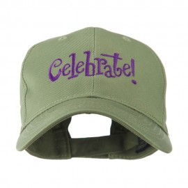 Celebrate Wording Embroidered Cap