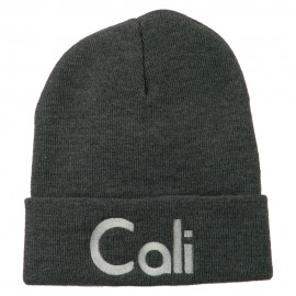 Cali Embroidered Long Beanie
