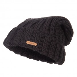 Deep Crown Cuff Long Beanie