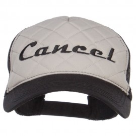 Cancel Embroidered Foam Trucker Cap