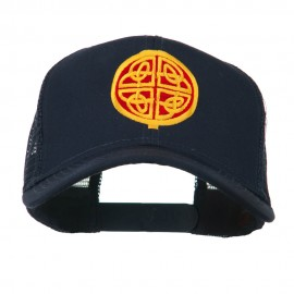 Circular Celtic Design Embroidered Trucker Cap