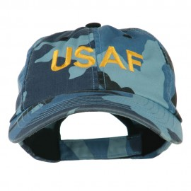 USAF Military Embroidered Camo Cap